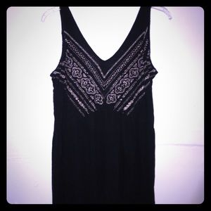 Urban Outfitters Ecote Tank with Gold Embroidery
